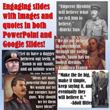 World War 2 Dictators Pop Up Figures Lesson Plan