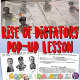 World War 2 Rise of Dictators Pop Up Figures Lesson