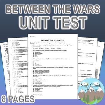 Between the Wars / Fascism Unit Test / Exam / Assessment