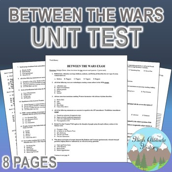 World Between Wars Tests Worksheets Teaching Resources TpT