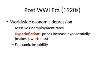 Rise of Fascism Post WWI