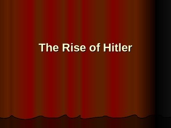 Rise of Hitler Lecture