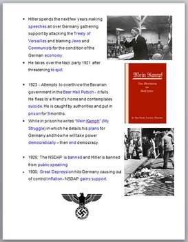 The Rise of Hitler: Lesson, Note, Cloze Note