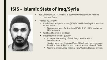 Rise of ISIS PowerPoint, Guided Notes, and Completed Notes