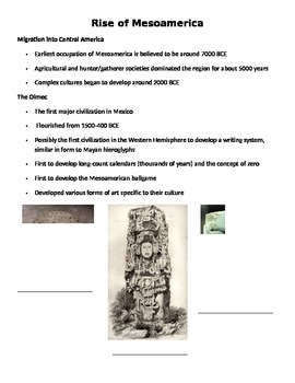 Rise of Mesoamerica Notes