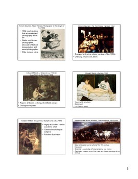 Rise of Modern Art Notes (Art of the Later 19th Century)