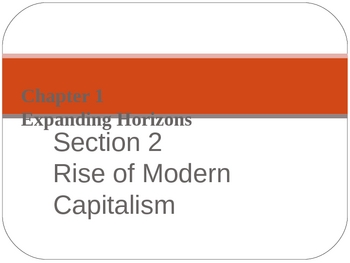 Rise of Modern Capitalism PPT