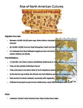 Rise of Native American Cultures Notes