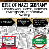Rise of Nazi Germany Timeline, Investigation, & Writing (Paper and Google )