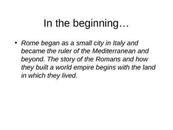 Rise of Rome Powerpoint