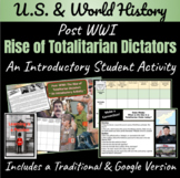 Post-WWI: Rise of Totalitarian Dictators   Intro Activity