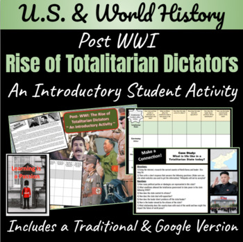 Post-WWI: Rise of Totalitarian Dictators ~ An Introductory