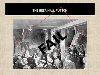 Rise of the Nazis 1920, The Beer Hall Putch