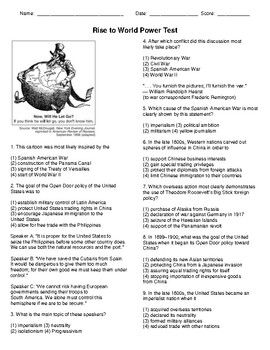 Rise to World Power/Imperialism Test - CH 7 Discovering Our Past: History of US