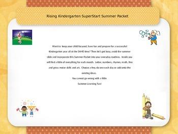 Rising Kindergarten Summer Activity Packet