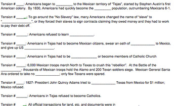Rising Tensions in Texas Game (Annexation of Texas)