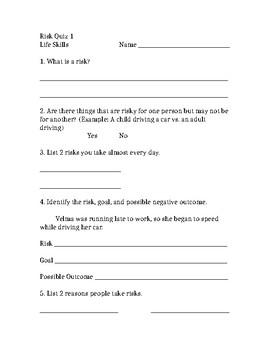 Risk Taking Quiz 1