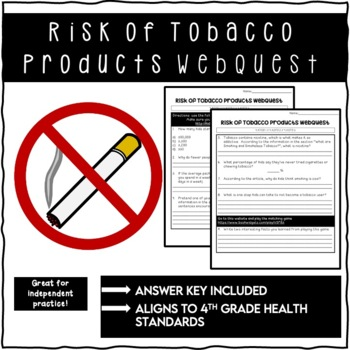 Risk of Tobacco Products Webquest