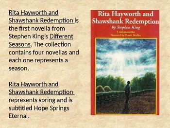 Rita Hayworth and Shawshank Redemption Intro & Anticipation Activity
