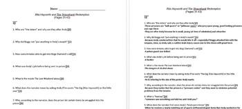 Rita Hayworth and Shawshank Redemption Novella Unit Plan