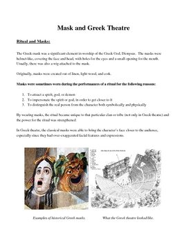 Ritual, Choral Speaking, and Mask Unit Plan