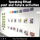 Visuals : Past tense - Future Tense ESL Speaking activity - EDITABLE