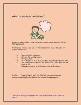 Rituals and Routines for the New Math Teacher