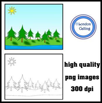 River Background Clip Art