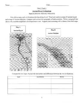 River Civilization Common Core Aligned Task Bundle