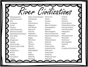 River Civilization Word Wall