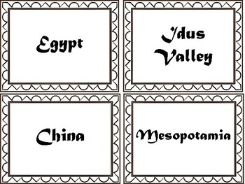 River Civilizations Card Sort and Interactive Notebook Activity