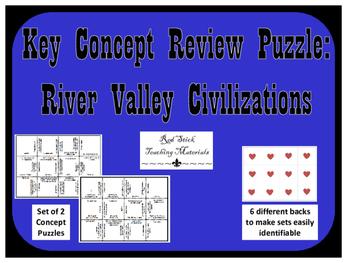 River Civilizations Key Concepts Puzzle--Set of 2