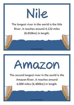 River Fact Cards