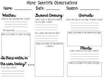 River Observation Sheet