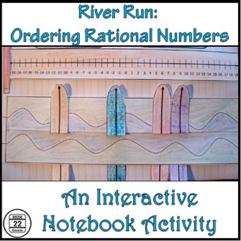 Comparing and Ordering Rational Numbers Notebook Activity and Task Cards