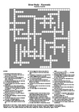 River Study - A Testing Vocabulary Crossword