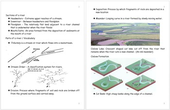River Study Unit Notes, Water Quality Curriculum and Standards