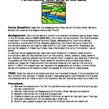 River Valley Civ. Brochure: How Did the Geography Shape th