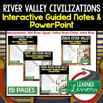 river valley civilization guided notes and powerpoints world history