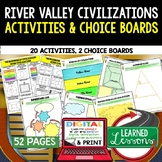 River Valley Civilizations Activities, Choice Board, Print & Google