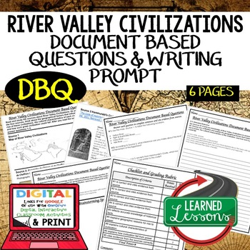 River Valley Civilizations DBQ Document Based Questions (World History)