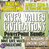River Valley Civilizations PowerPoint & Guided Notes Bundle