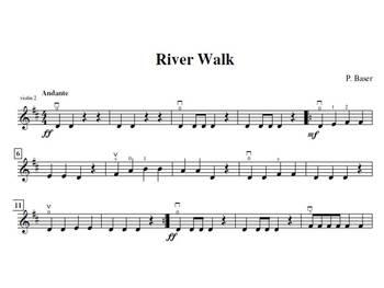 River Walk for Violin Trio
