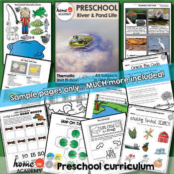 River and Pond Life - Weekly Unit for Preschool, PreK or Homeschool