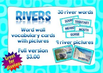 River words for Word wall
