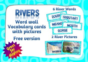 River words for word wall - free version