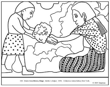 Diego Rivera Coloring Page Worksheets & Teaching Resources | TpT