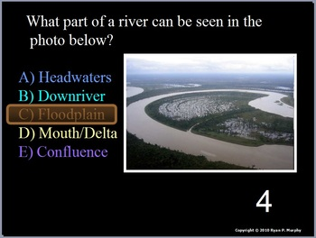 Rivers, Lakes, and Water Quality Quiz Game