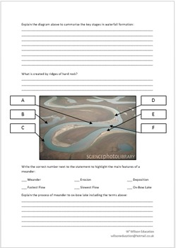 Rivers Revision Sheets