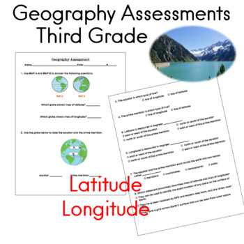 Third Grade Geography Assessments